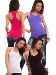 Ladies Active Workout Racerback Tank Top Pk-4