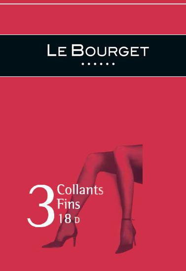 Le Bourget 3 collants fins 18 denier women pantyhose