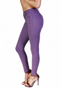 Light Purple Coloured Skinny Jeans