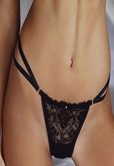 PLAYBOY Netted Lace Double String Bikini Panty