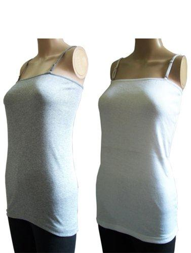 Pack Of 2 Cotton Blend Ladies Camisoles