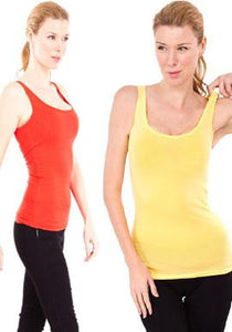 Set Of Two Bright Coloured Tank Top