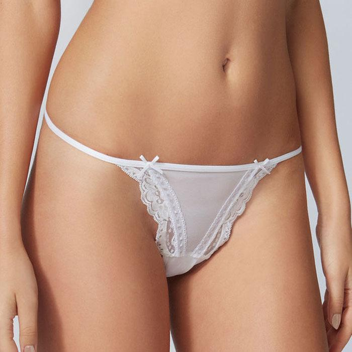 Snazzy Lace Mesh G-String Panty