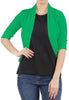 True fit solid green 3/4 sleeves shrug