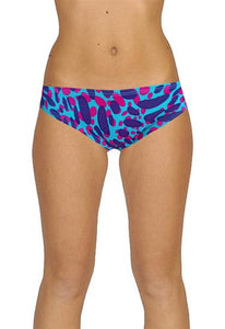"""Victoria's Secret"" Blue/Pink Printed Bikini Bottom"
