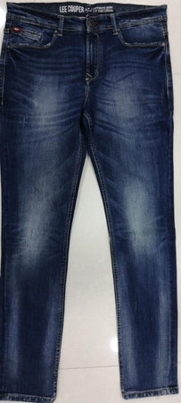 Lee Cooper Men Mid Blue Slim Fit Low-Rise Scratched Look Stretchable Jeans