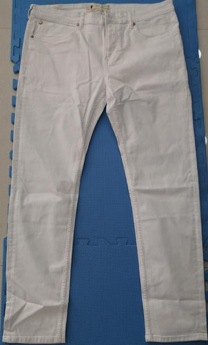 French Connection Men White Slim Tappered Fit Mid-Rise Plain Look Stretchable Jeans