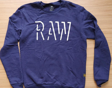 G-Star RAW Imperial Blue  Straight Fit Graphic Printed Sweatshirt.