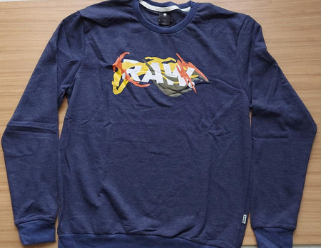G-Star RAW Imperial Blue  Straight Fit Multi-Color Graphic Printed Sweatshirt.