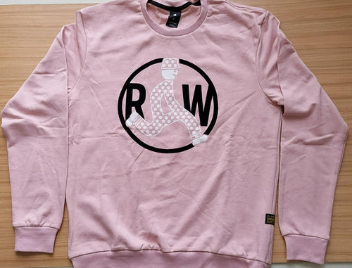 G-STAR RAW Pink Straight Fit Graphic Printed Sweatshirt