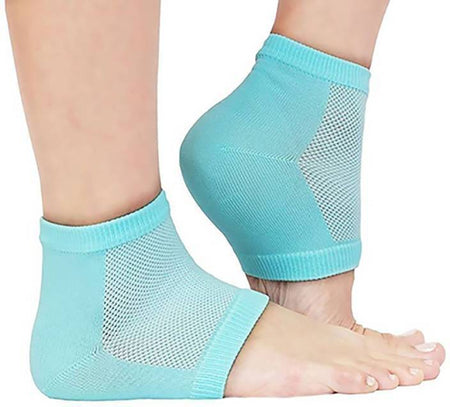 TopMart Heel Pain Relief Silicone Gel Heel Socks (Multicolor)-2 Pcs