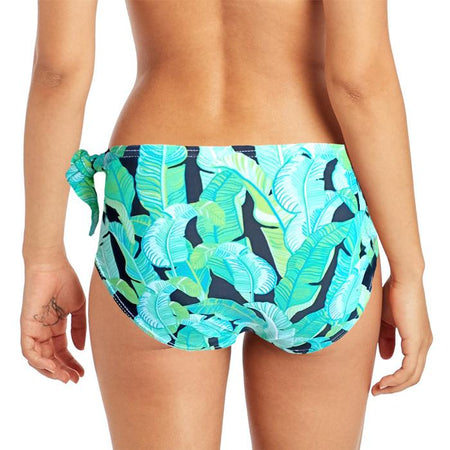 """now"" Leafs Printed Details Bikini Bottom"