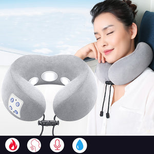 U Shape Pillow Electrical Shiatsu Neck Shoulder Body Massager Heated Kneading for Car Home Office Massagem Neck Relaxation