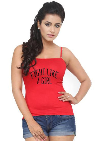 Lovable Red Cotton Stretch Layering Camisole