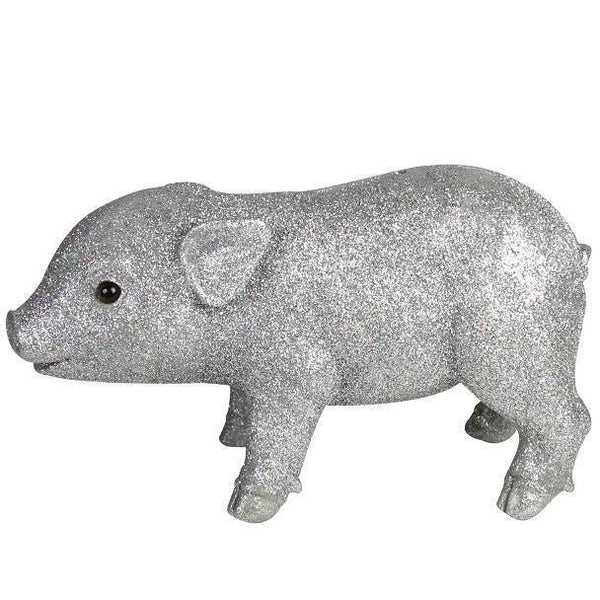 Piggy Bank Money Box Silver Glitter