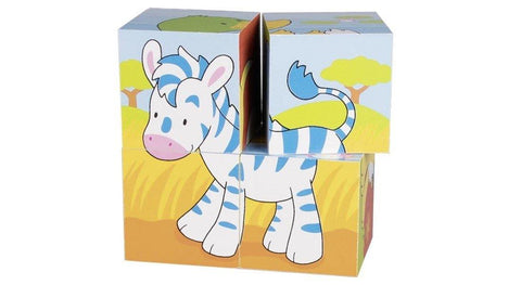 Goki 4 Cube Animal Puzzle made by Goki