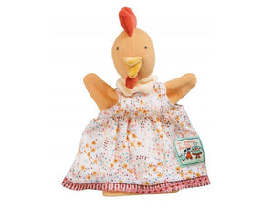 Chicken Hand Puppet made by Moulin Roty