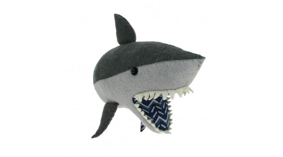 Shark Wall Head made by Fiona Walker England