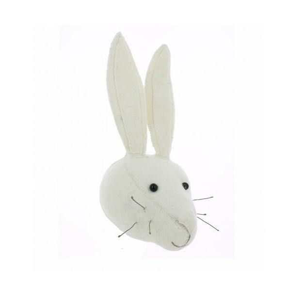 White Rabbit Head Wall Decoration (mini)