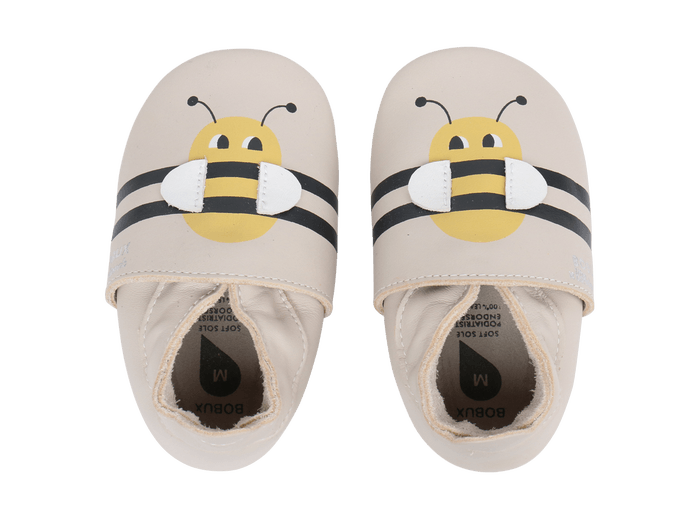 Soft Leather Bumble Bee Booties