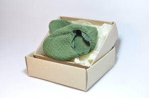 Cashmere Booties made by Christa Davis