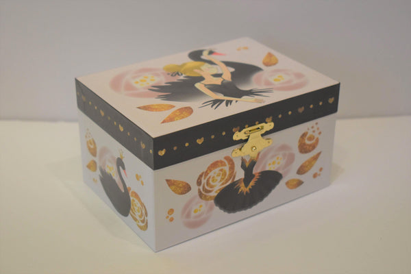 Black Swan Ballerina Music Box