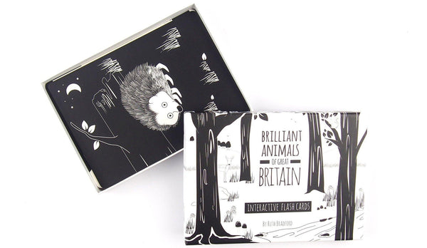 Baby Black and White Flash Cards Animals of Britain