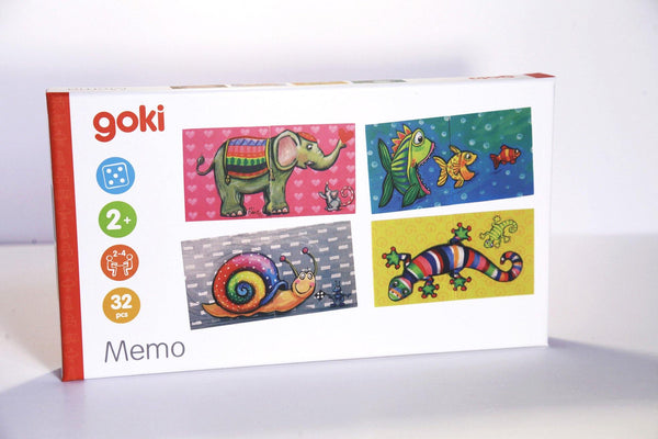 Animal Matching Memo Game Puzzle made by Goki