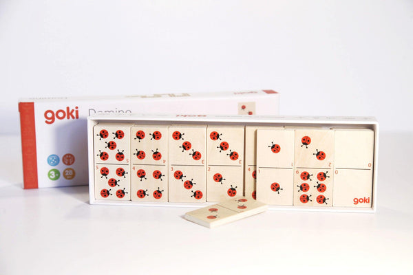 Ladybird Dominos Game Puzzle made by Loula and Deer