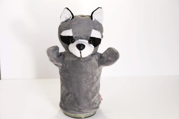 Racoon Hand Puppet Toy made by Goki