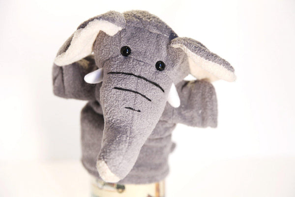 Elephant Hand Puppet Toy made by Goki