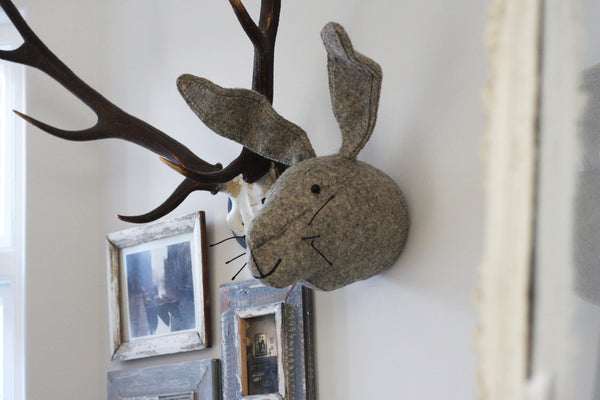 Rabbit Wall Head made by Fiona Walker England