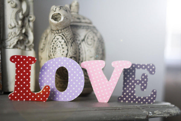 Polka Dot Letters made by Beamers