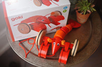 Pull-Along Lobster Wooden Toy made by Bass et Bass