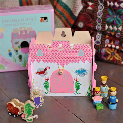 Mermaid Wooden Dolls House made by Loula and Deer