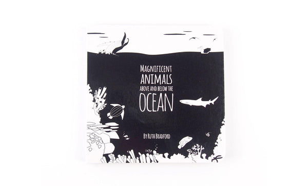Baby Black and White Book with Underwater Animals
