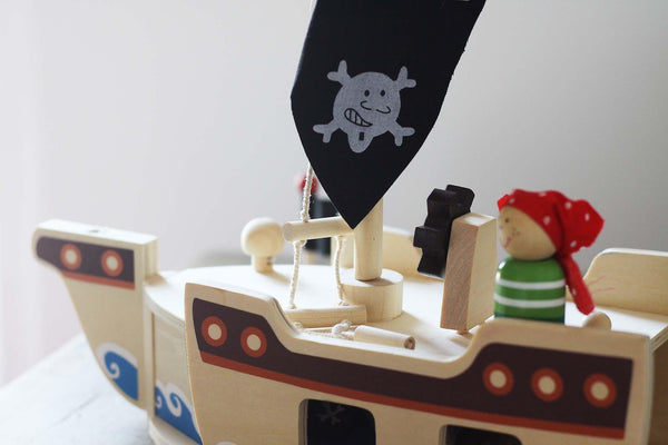 Pirate Ship Wooden Playset made by Bigjigs