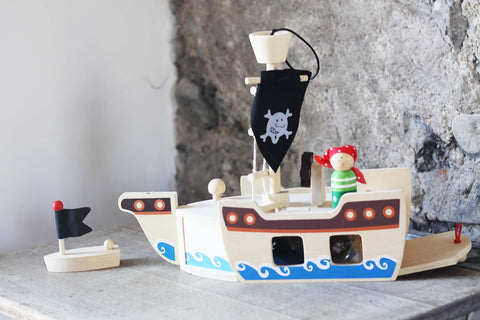 Pirate Ship Wooden Playset