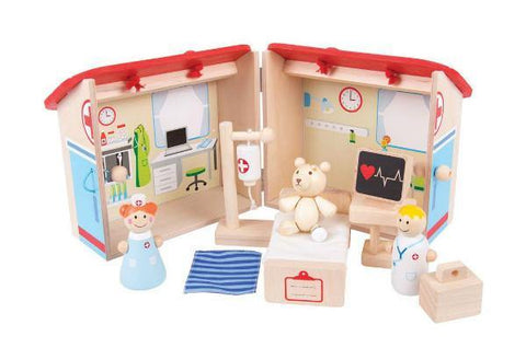 Doctors Wooden Playset made by Bigjigs