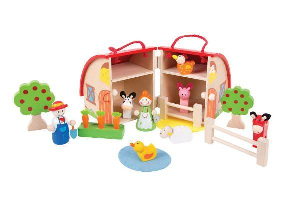 Farmyard Wooden Playset made by Bigjigs