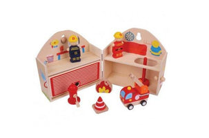 Wooden Playset Fire Station