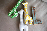 Baby Giraffe Rattle & Squeaker made by Trixie