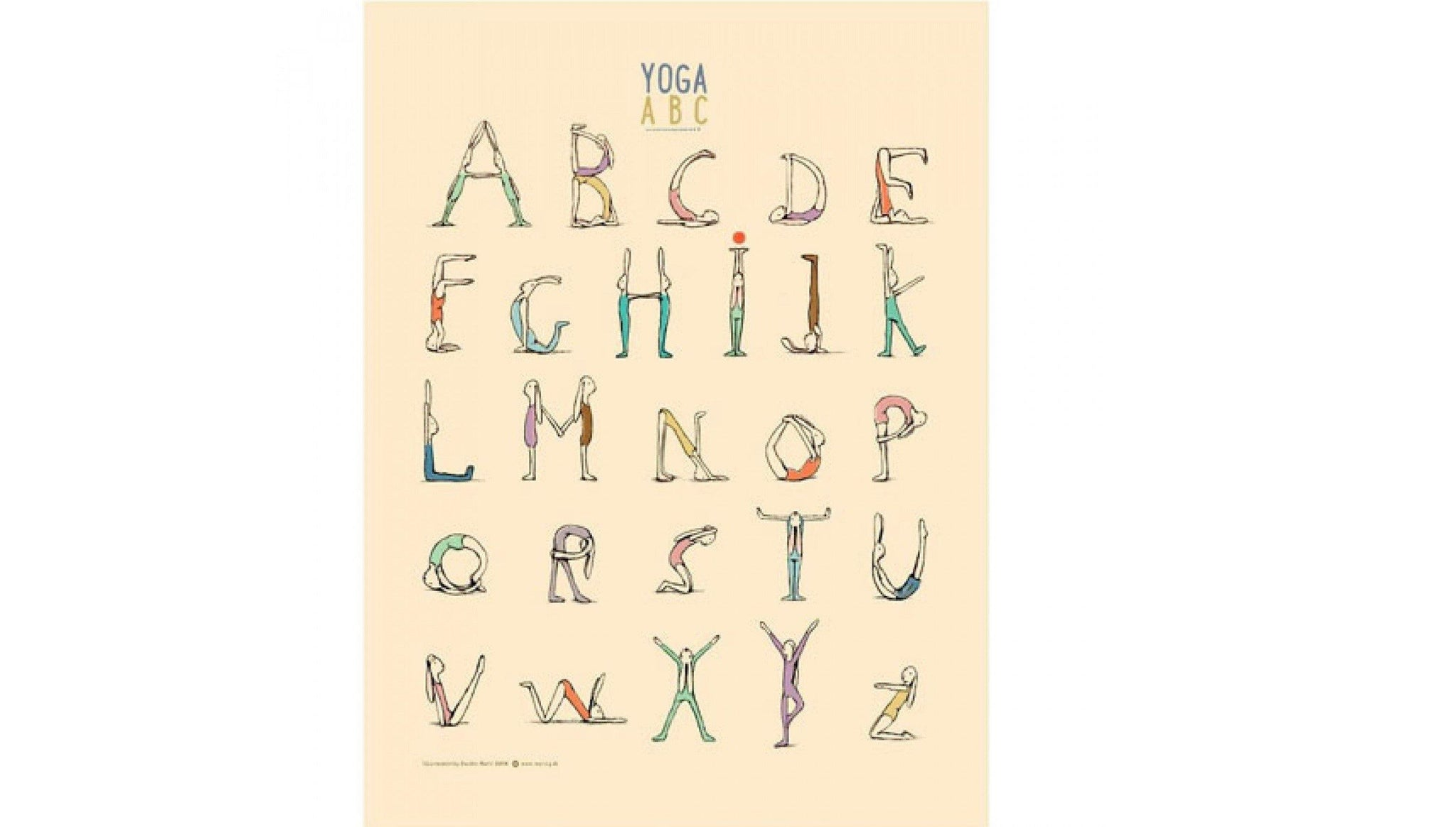 Yoga ABC Poster made by Loula and Deer