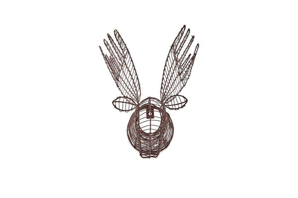 Reindeer Head Wire Wall Decoration (mini)