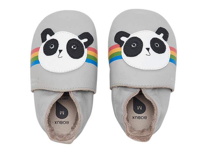 Soft Leather Peace Panda Booties