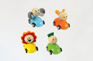 Pull-back Racing Animals made by Bigjigs