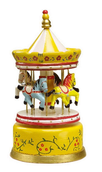 Wooden Carousel Music Box made by Loula and Deer