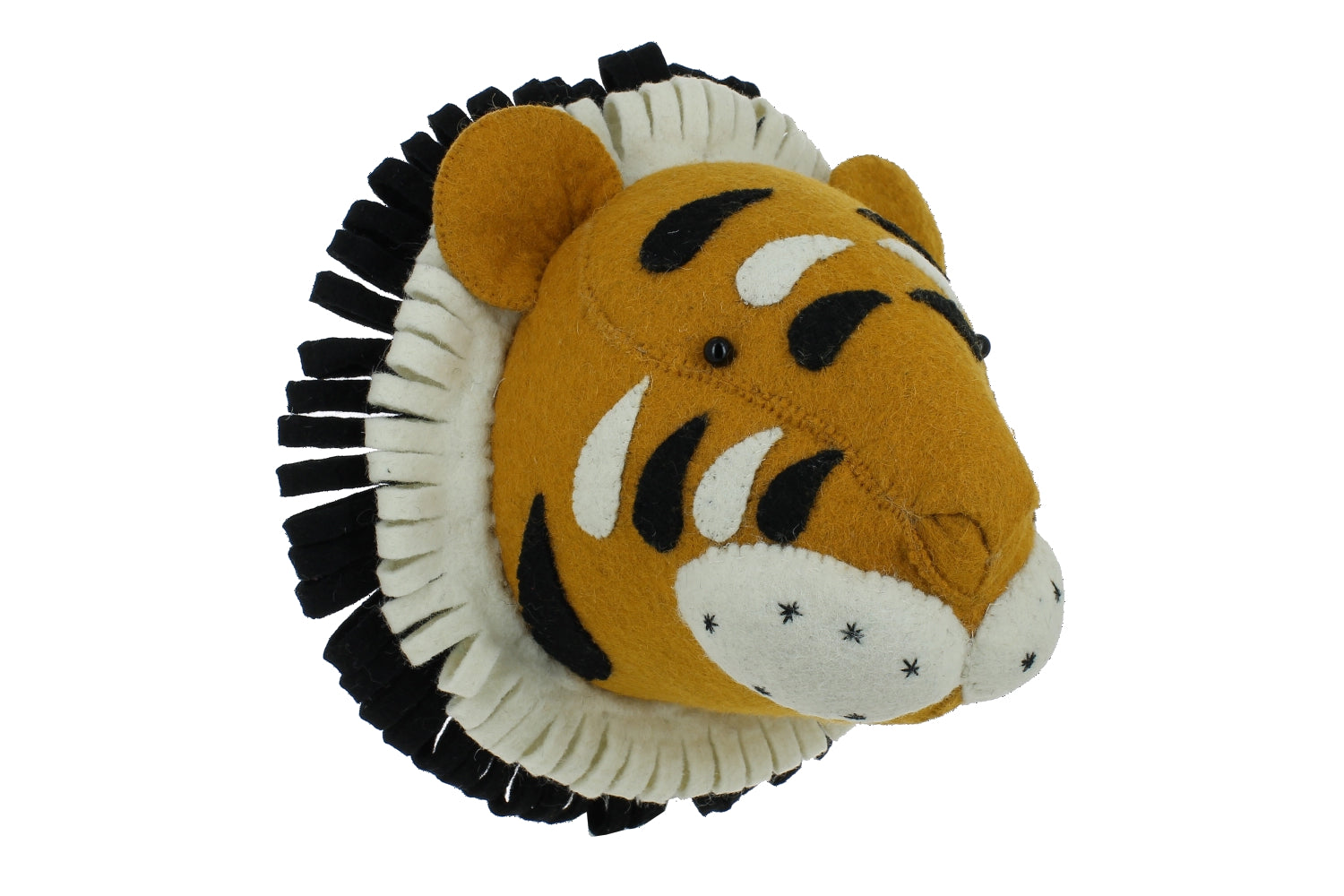 Tiger Wall Head made by Fiona Walker England