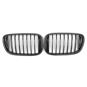 Carbon fiber single line gloss matt  replace front Grills 1 pair For BMW 7-SERIES G11 G12 G13 2016UP