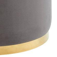 Load image into Gallery viewer, Sonata Ottoman Grey/Gold